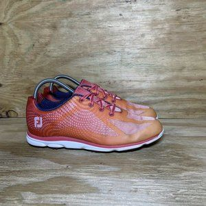 FootJoy Empower Spikeless Golf Shoes Womens Size 9 M Coral 98002